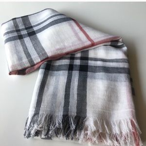 Authentic Burberry silk & wool scarf